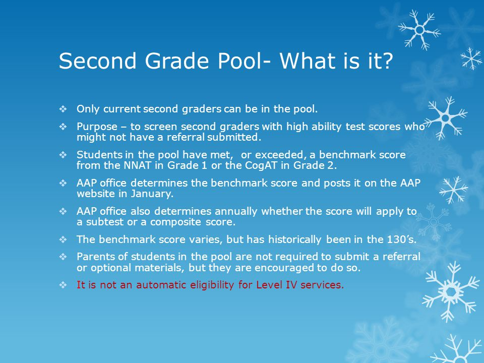 Second Grade Pool- What is it