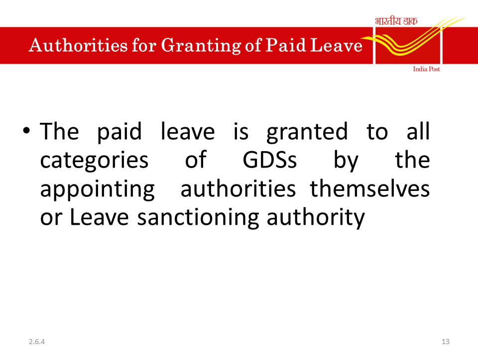 Authorities for Granting of Paid Leave