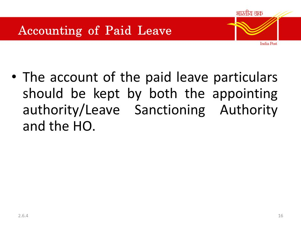 Accounting of Paid Leave