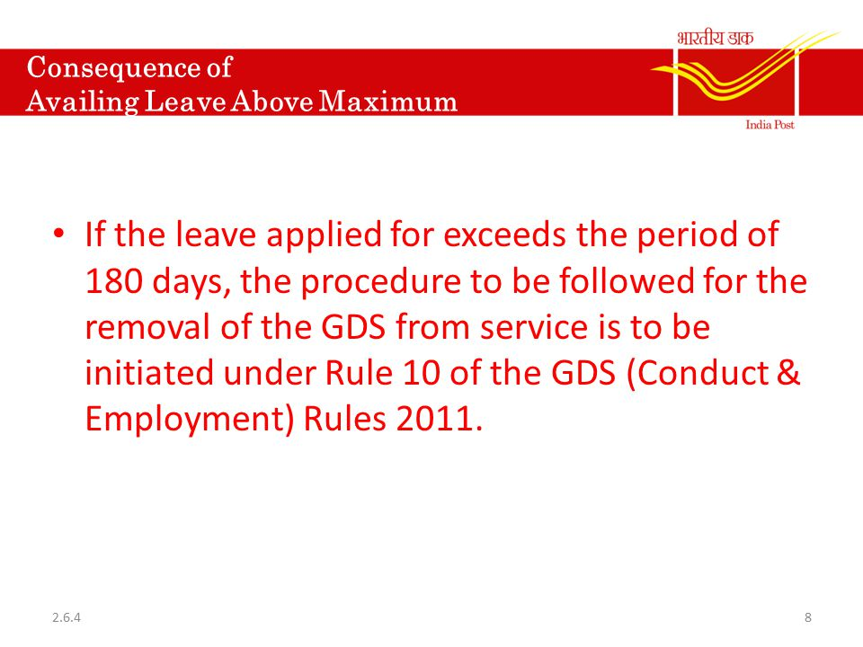 Consequence of Availing Leave Above Maximum