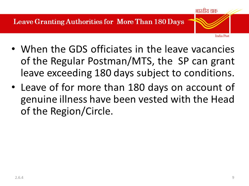Leave Granting Authorities for More Than 180 Days