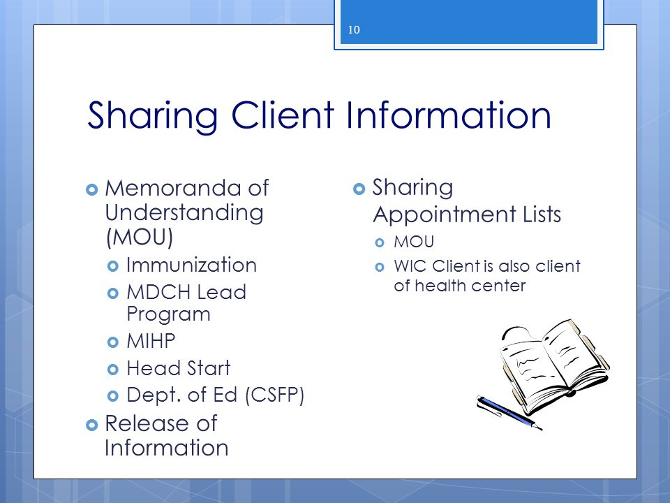 Sharing Client Information