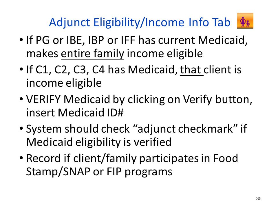 Adjunct Eligibility/Income Info Tab
