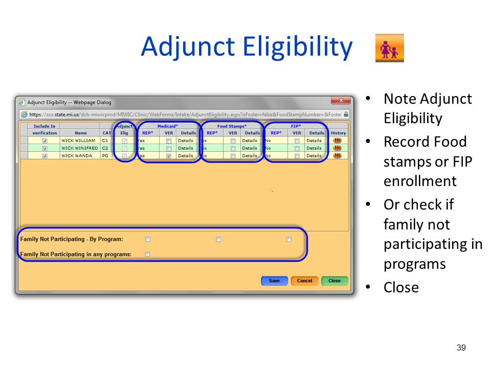 Adjunct Eligibility Note Adjunct Eligibility