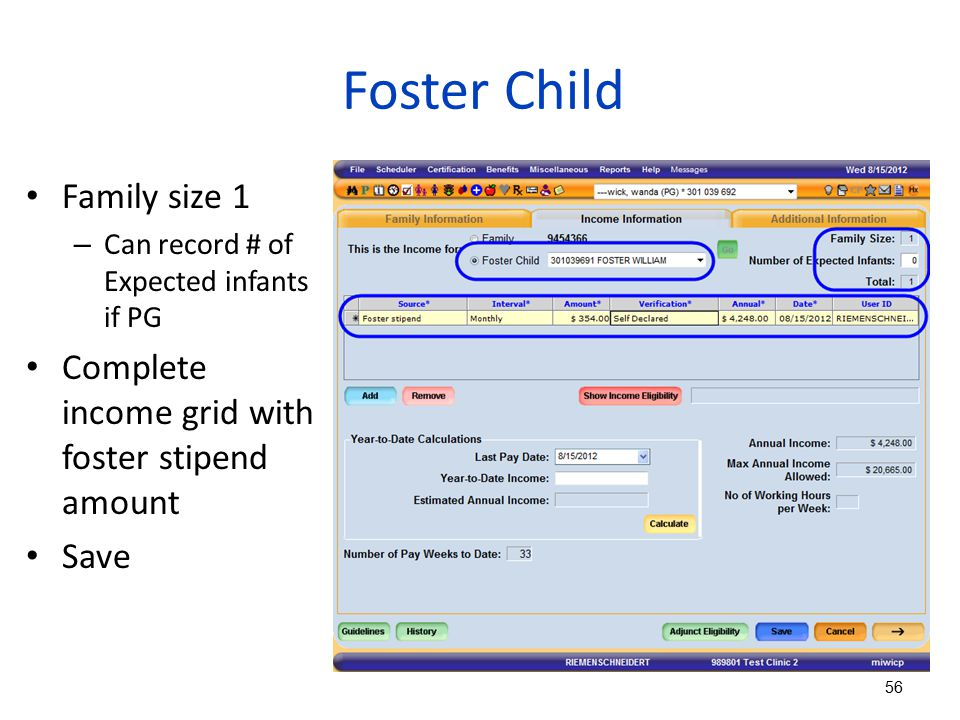 Foster Child Family size 1