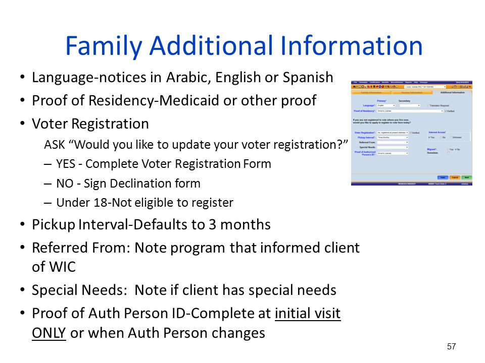 Family Additional Information