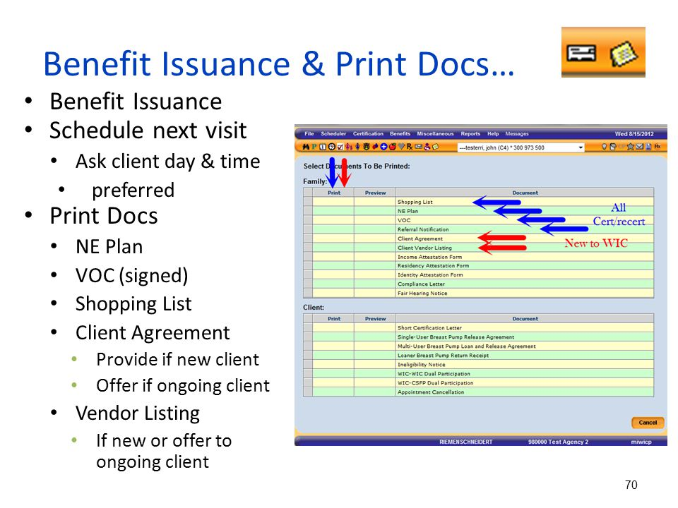 Benefit Issuance & Print Docs…