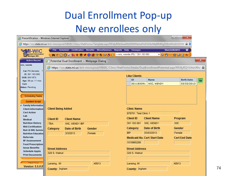 Dual Enrollment Pop-up New enrollees only