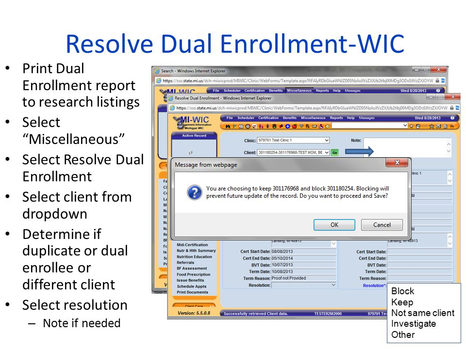 Resolve Dual Enrollment-WIC