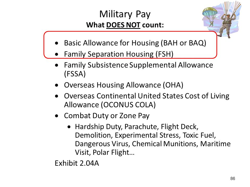 Military Pay What DOES NOT count: