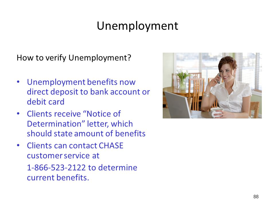 Unemployment How to verify Unemployment