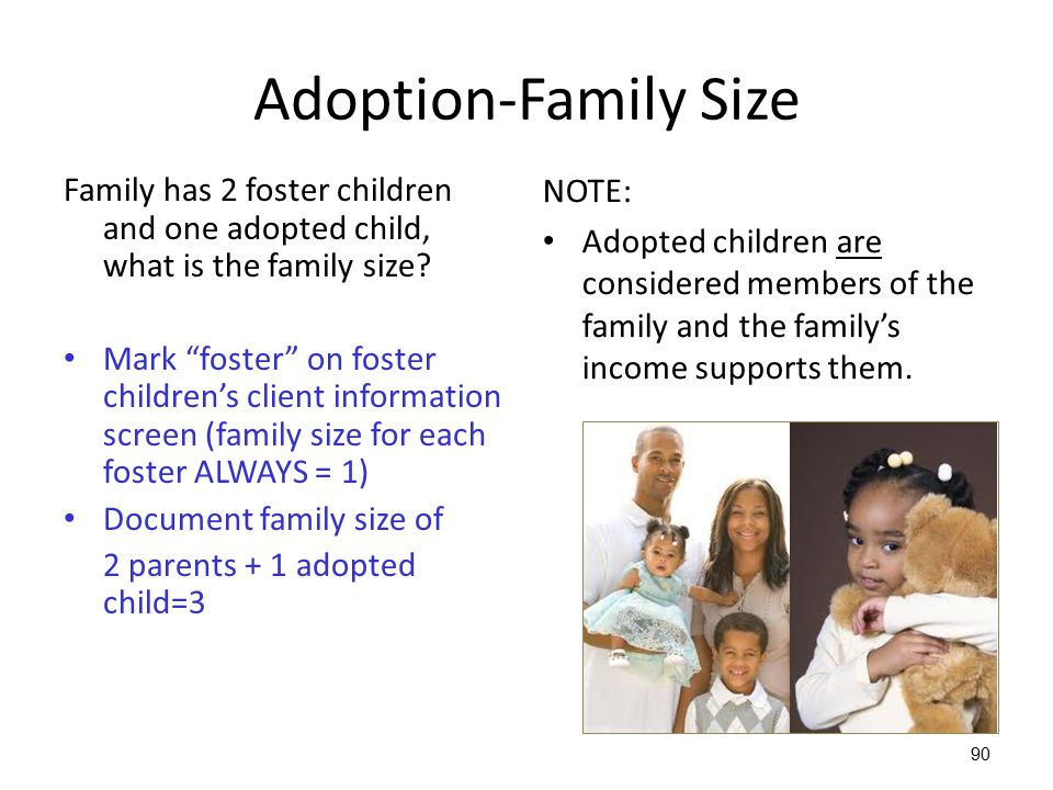 Adoption-Family Size NOTE: