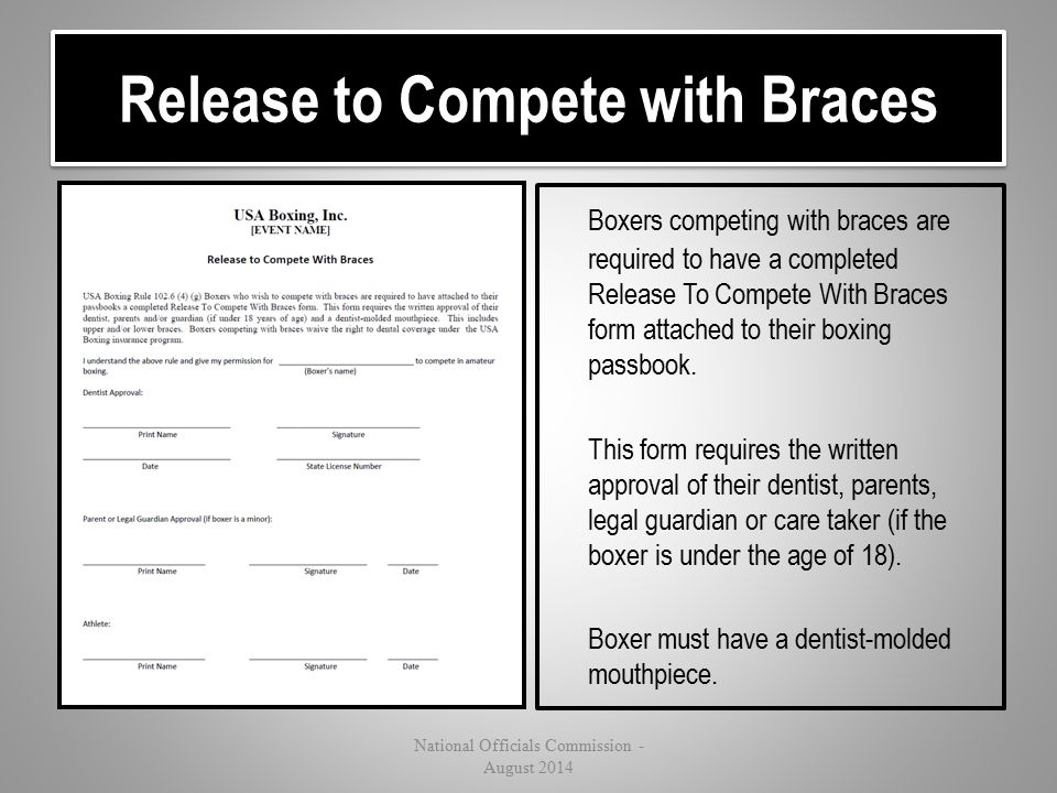 Release to Compete with Braces