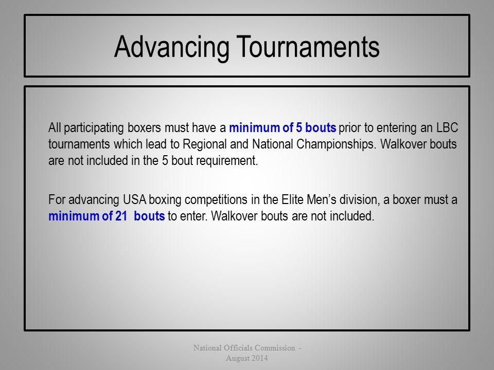 Advancing Tournaments