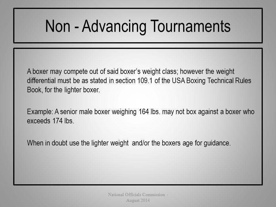 Non - Advancing Tournaments