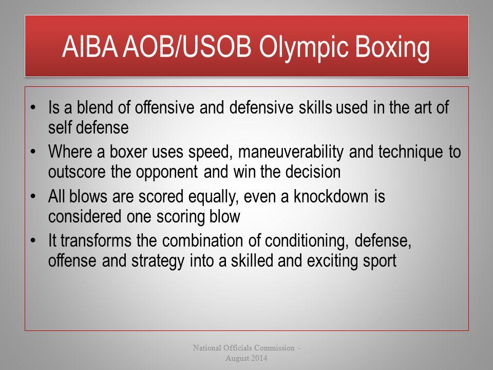 AIBA AOB/USOB Olympic Boxing