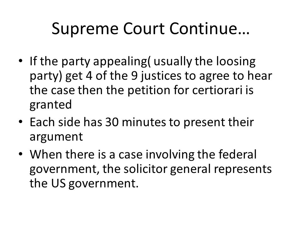 Supreme Court Continue…