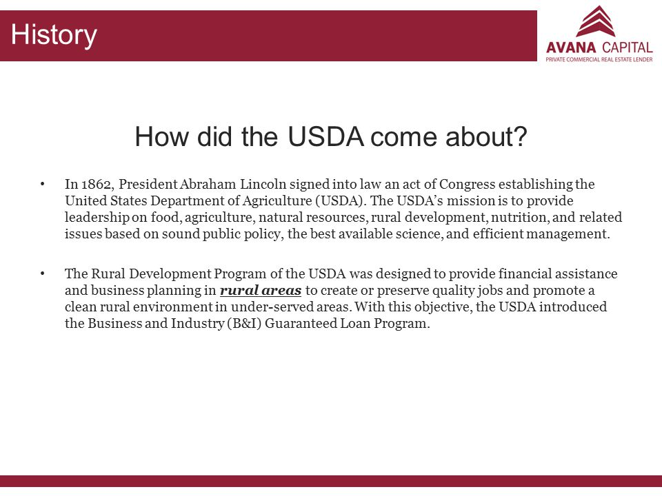 How did the USDA come about