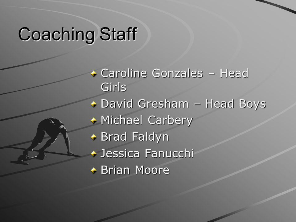 Coaching Staff Caroline Gonzales – Head Girls