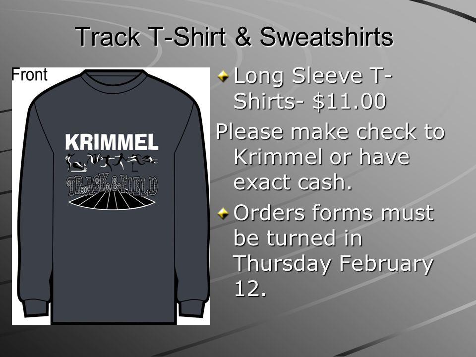 Track T-Shirt & Sweatshirts