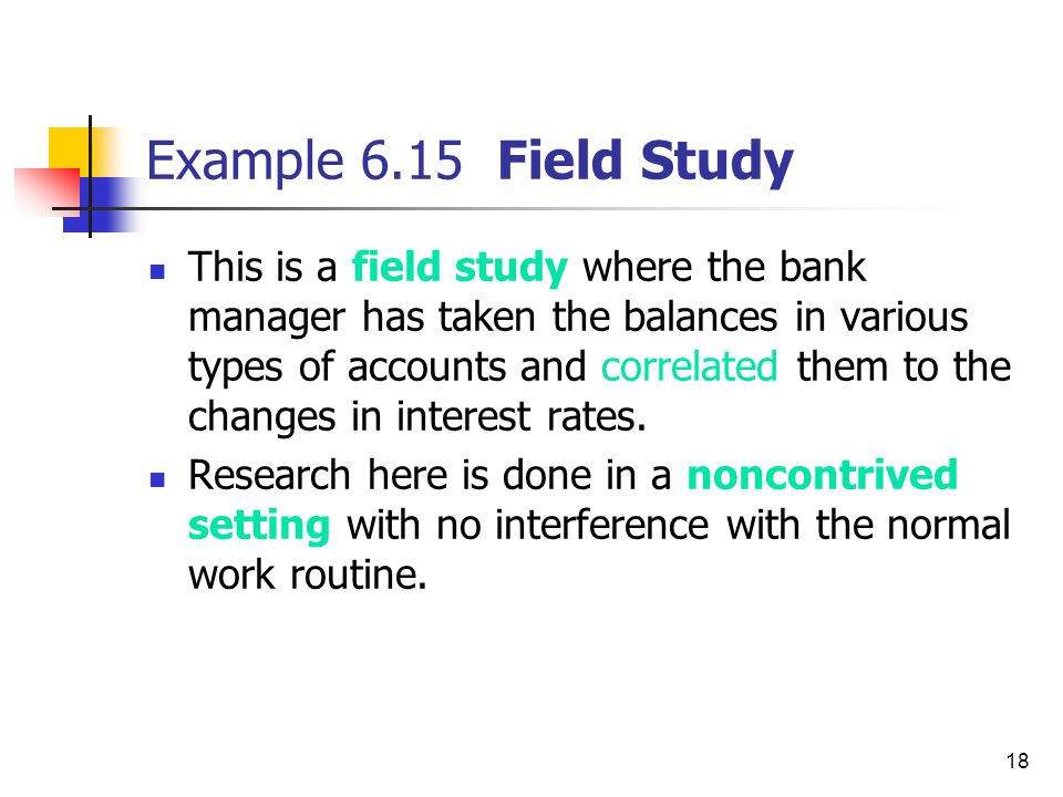 Example 6.15 Field Study
