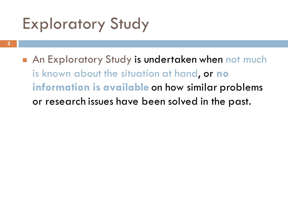 Exploratory Study