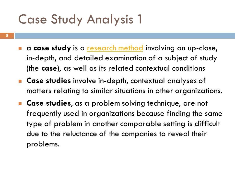 Case Study Analysis 1