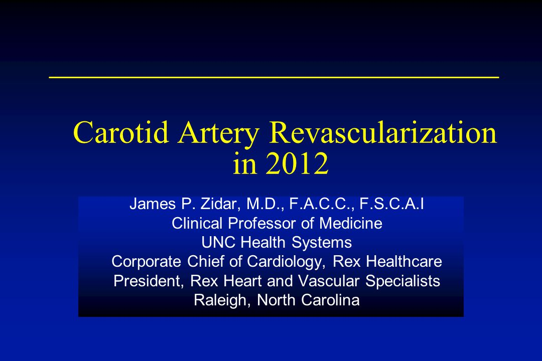 Carotid Artery Revascularization in 2012