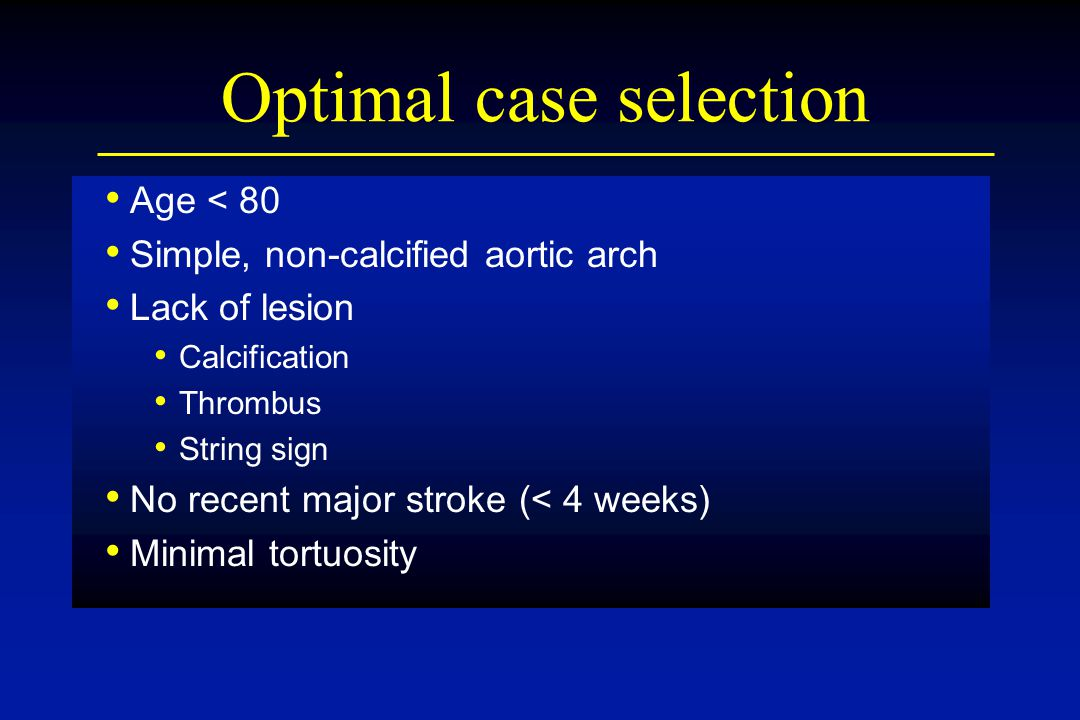 Optimal case selection