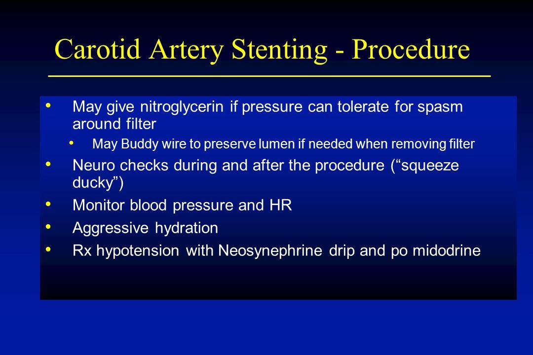 Carotid Artery Stenting - Procedure