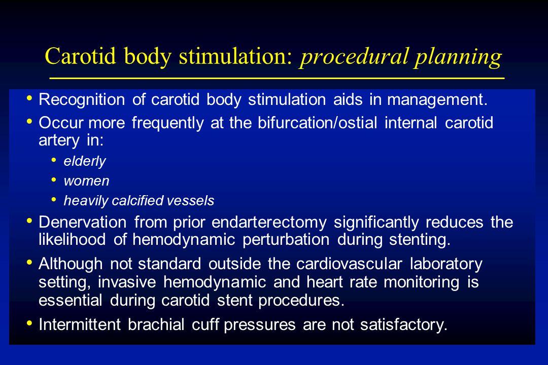 Carotid body stimulation: procedural planning