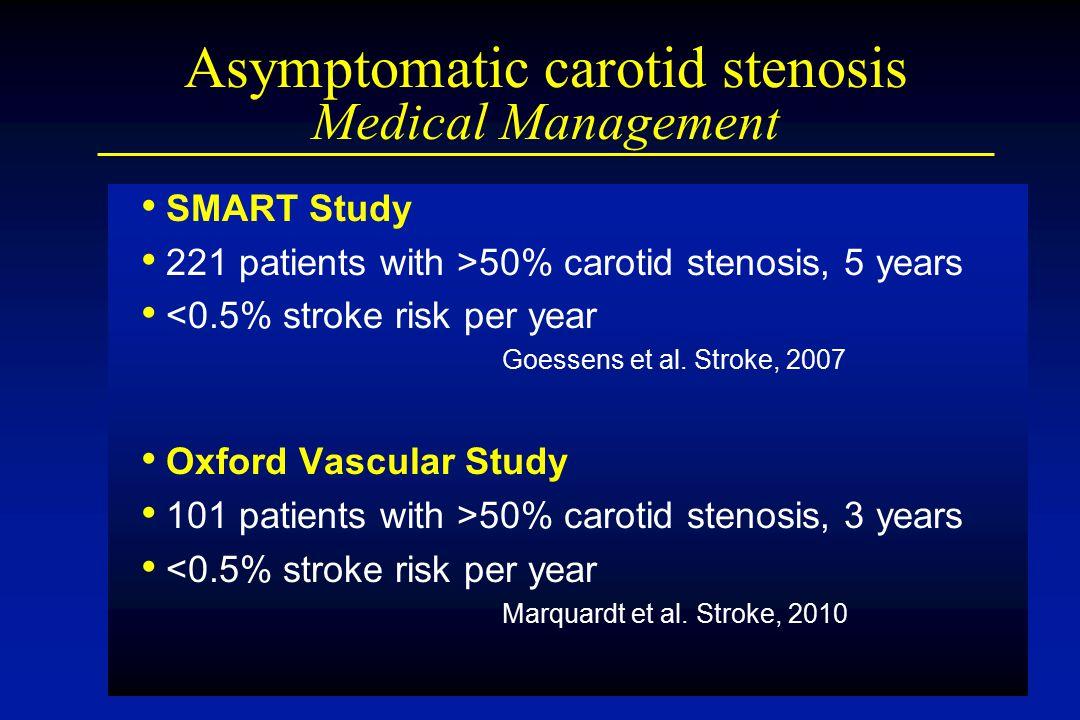 Asymptomatic carotid stenosis Medical Management