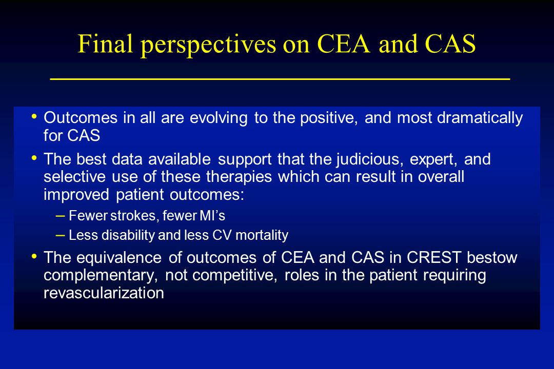 Final perspectives on CEA and CAS