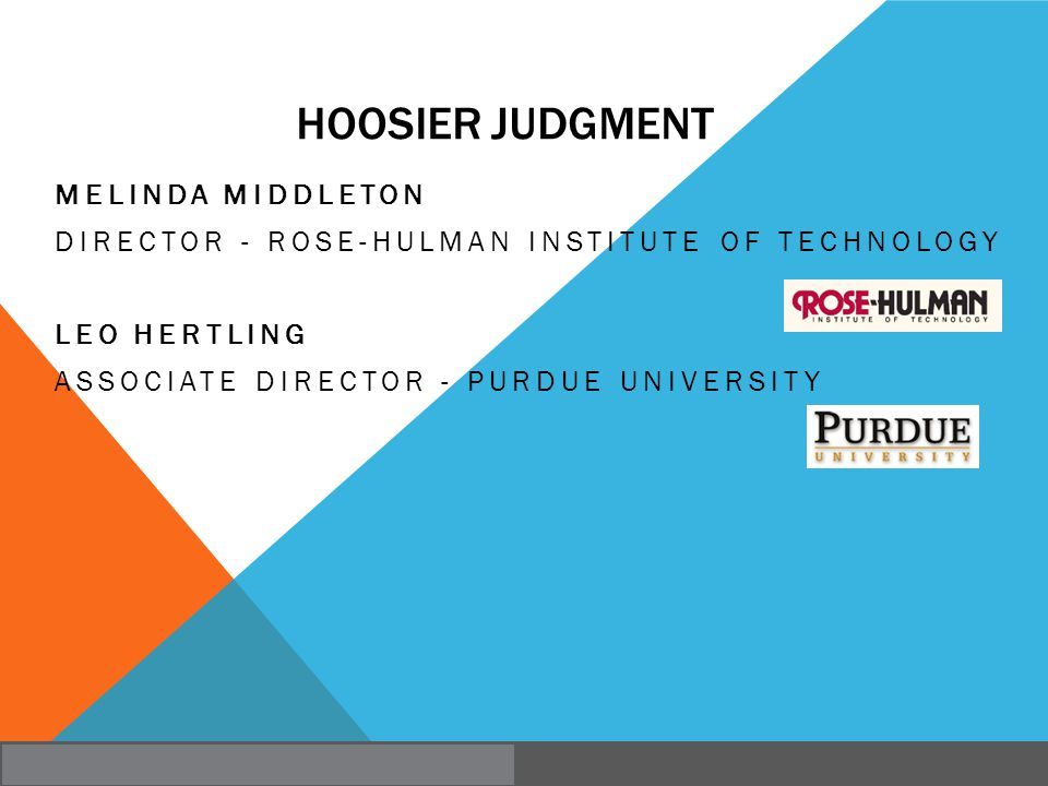 Hoosier Judgment Melinda Middleton