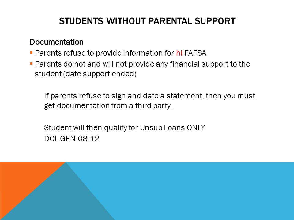Students Without Parental Support