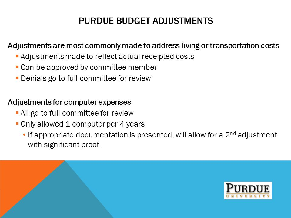 Purdue Budget Adjustments
