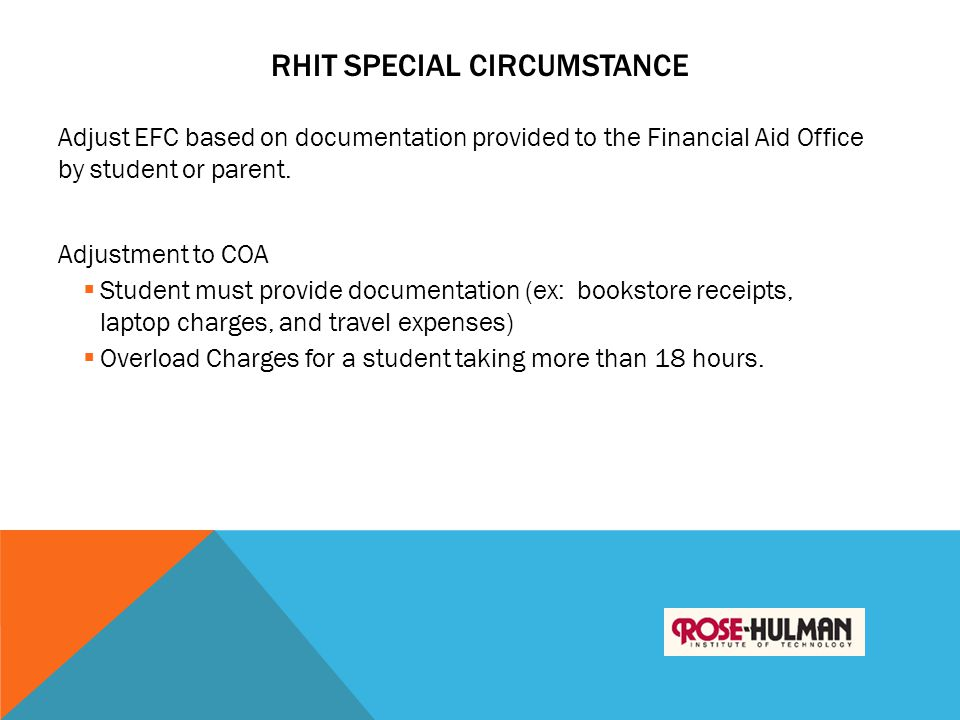 RHIT Special Circumstance