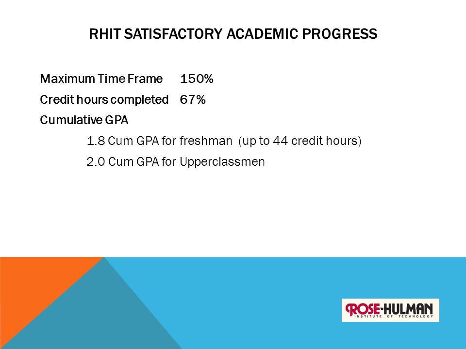 RHIT Satisfactory Academic Progress