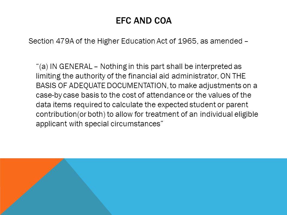 EFC and COA