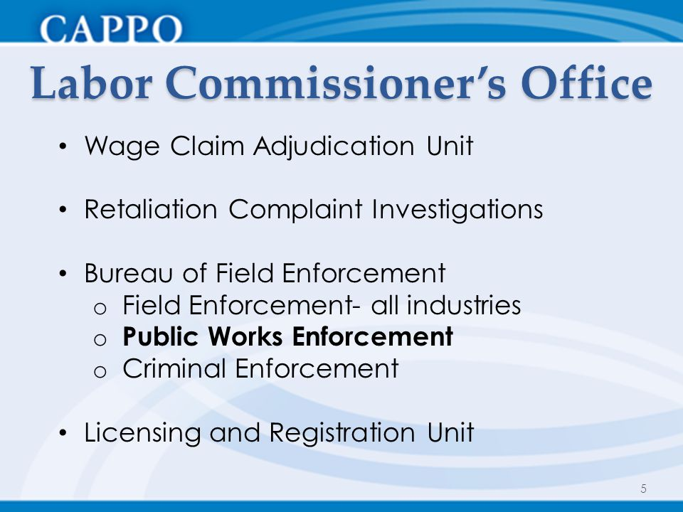 Labor Commissioner's Office