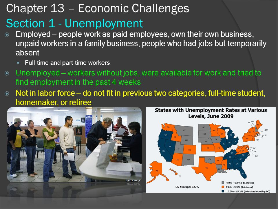 Chapter 13 – Economic Challenges Section 1 - Unemployment