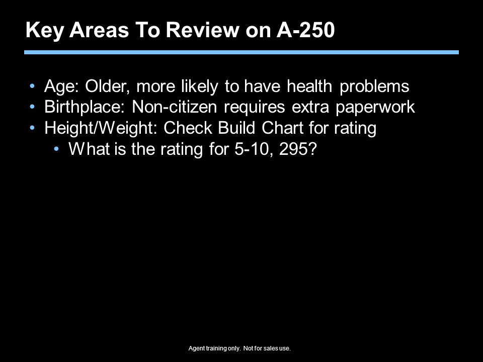 Key Areas To Review on A-250