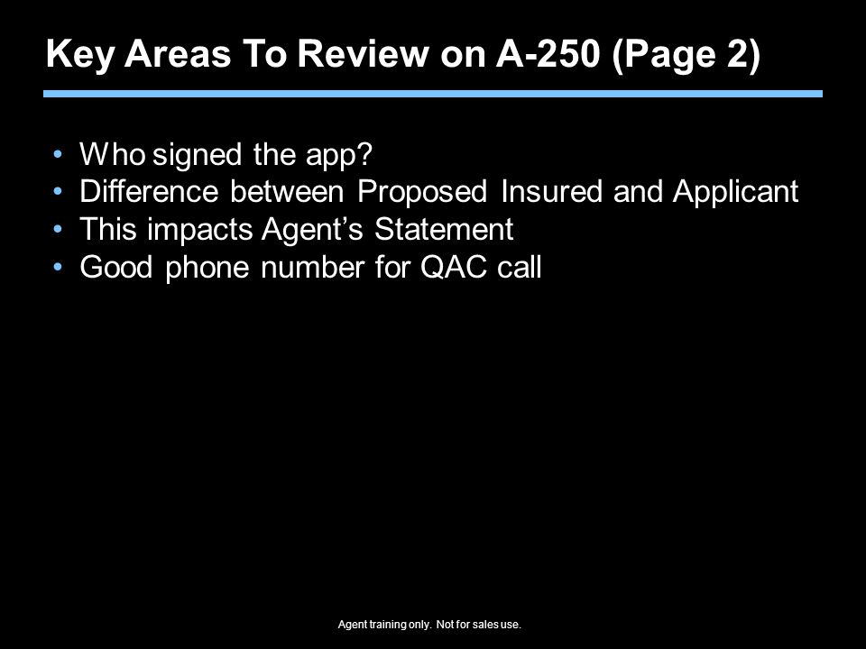 Key Areas To Review on A-250 (Page 2)