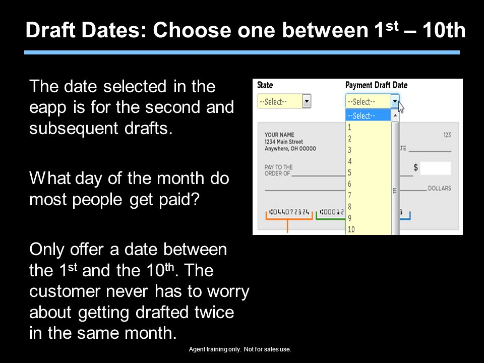 Draft Dates: Choose one between 1st – 10th