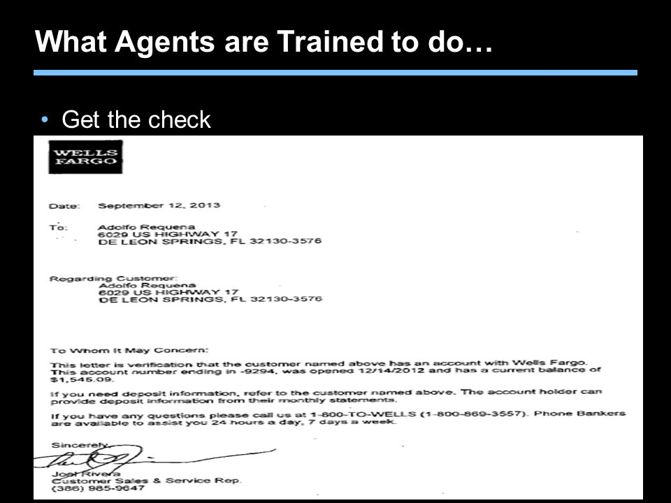 What Agents are Trained to do…