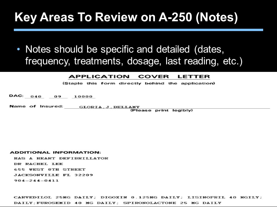 Key Areas To Review on A-250 (Notes)