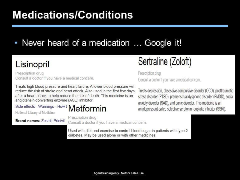 Medications/Conditions