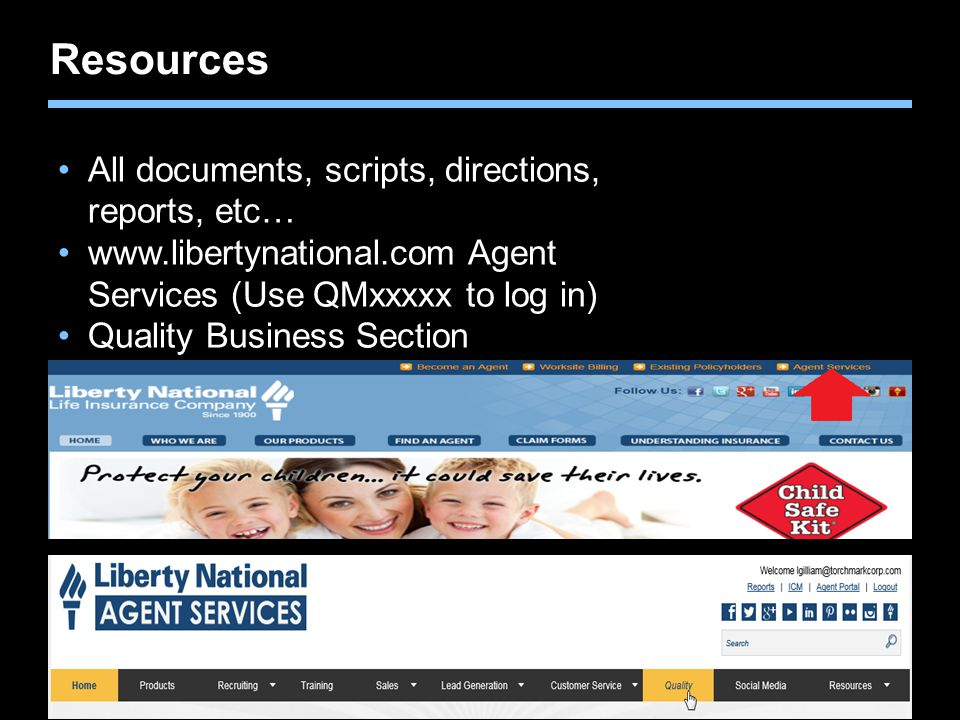 Resources All documents, scripts, directions, reports, etc…
