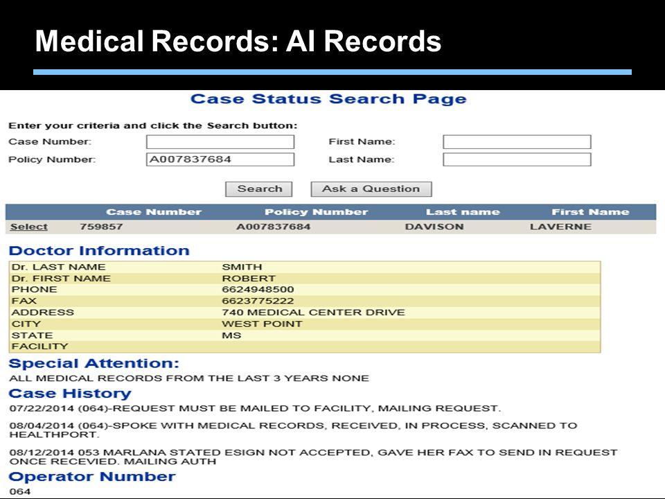Medical Records: AI Records