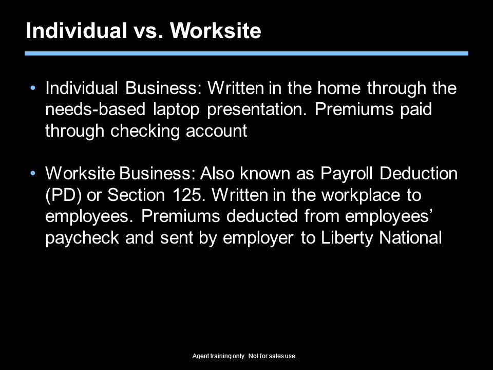 Individual vs. Worksite